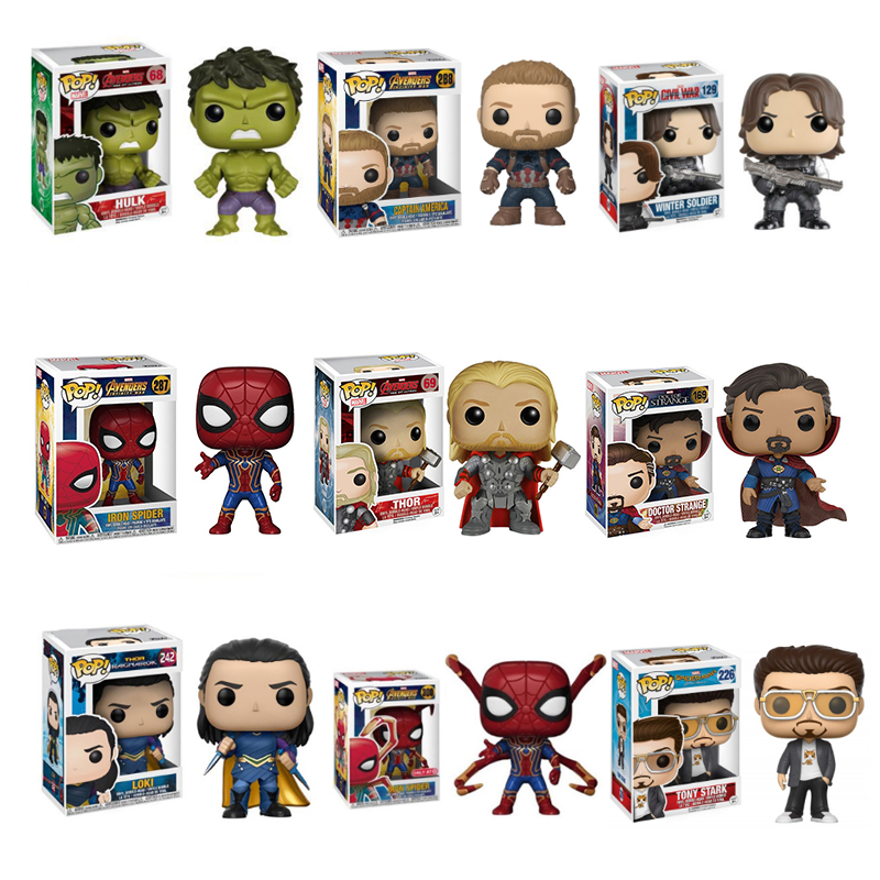 funko-pop-original-font-b-marvel-b-font-the-avengers-iron-man-spiderman-iron-man-raytheon-doctor-thanos-model-toys-birthday-gift