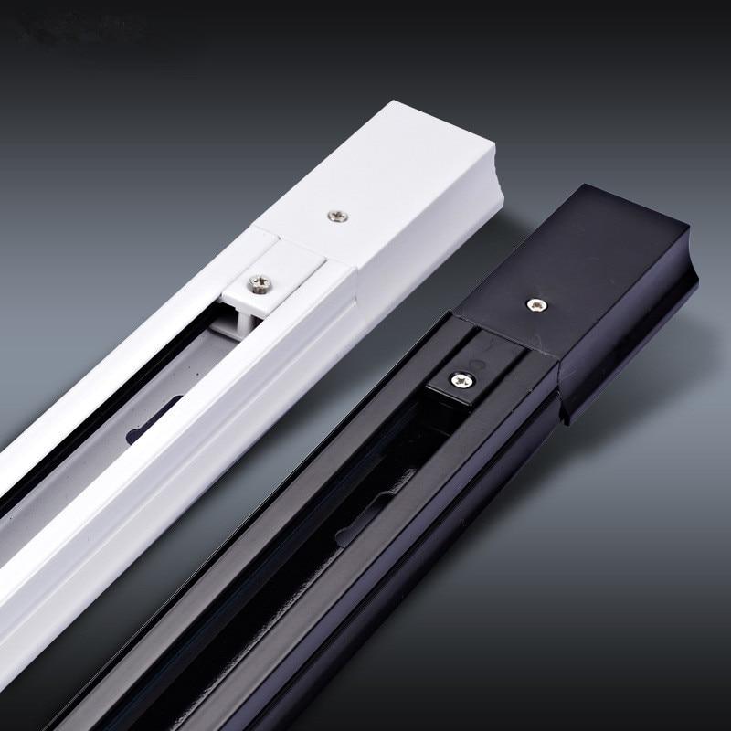 4 Stks/partij 0.5M 2 Fase Aluminium Track Rail Light Rail Met Connector Universele Rails Verlichtingsarmaturen 2-Draad dikke Track