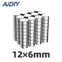 AI DIY 20/50/100Pcs 12mm x 6mm Super Strong Round Powerful Neodymium Magnets Rare Earth Disc Wholesale 12 *