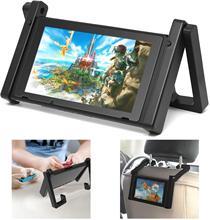 Подставка для Nintendo Switch, регулируемый автомобильный держатель для подголовника, подставка для игровой консоли Nintendo Switch NS и аксессуары
