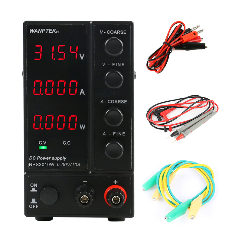 Image 2 - NPS306W/605W/3010W/1203W Mini Switching Regulated Adjustable DC Power Supply power display 30V/60V/120V 6A/10A 0.1V/0.01A/0.01W-in Switching Power Supply from Home Improvement