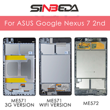 Original 7.0'' For ASUS Google Nexus 7 2nd 2013 FHD ME571 ME571K ME572CL K008 K009 LCD Display Touch Screen Digitizer Assembly kefu me571k for asus google nexus 7 me571kl me571k 32gb motherboard system board rev 1 4 16gb original board 100