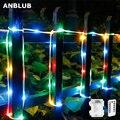 : ANBLUB 10 м 5 м веревки трубка Водонепроницаемый RGB светодиодный гирлянды дистанционный триггер для вспышки Волшебная Гирлянда новогодняя Сва...