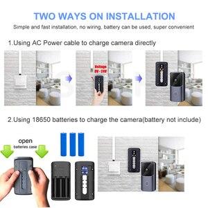 Image 3 - WIFI Türklingel Smart Home Drahtlose Telefon Tür Glocke Kamera Sicherheit Video Intercom 720P HD IR Nachtsicht Für Wohnungen