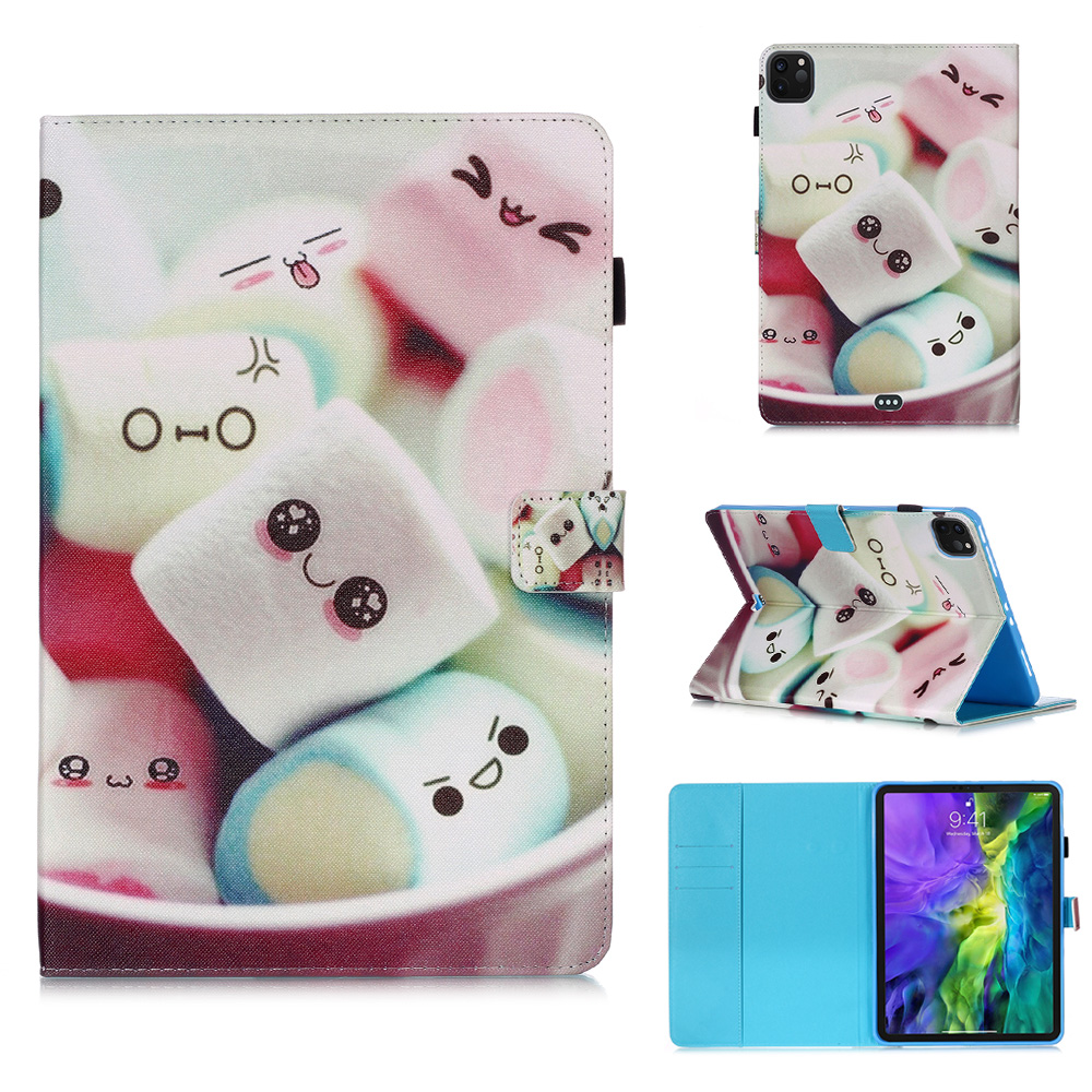 For Pro Cover 2020 11 Tablet Funda iPad Coque Case Flowers Tablet Wallet For Stand Owl