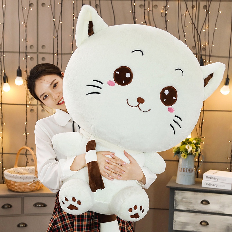 1Pcs Big Face Cat Doll Cats Stuffed Toys Cat Plush Toys Doll for Kid's Party Birthday Cute Gifts for Girl Kawaii Plush Pillows