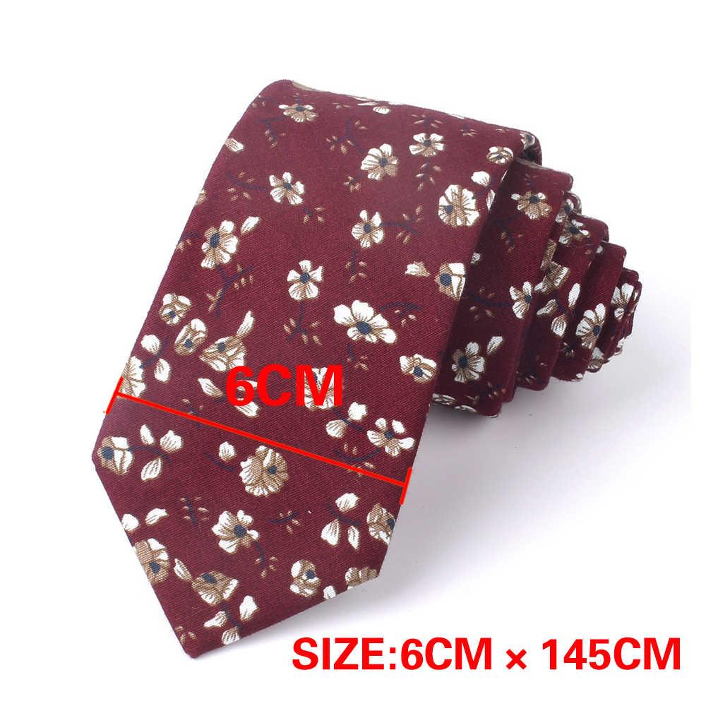 Yeni pamuk bağları moda çiçek baskı boyun kravat düğün iş elbisesi sıska kravat erkekler kadınlar için kırık çiçek kravat Gravatas