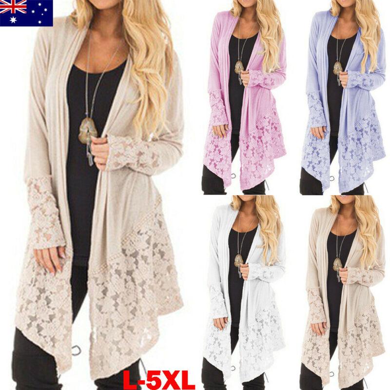 Women Autumn Baggy Cardigan Coat Long Jacket Knitted Sweater Jumper Plus Size