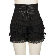 Shorts Cosplay Bloomers Steampunk Lolita Devil Girl Black Gothic Fashion Lace Fema Pumpkin