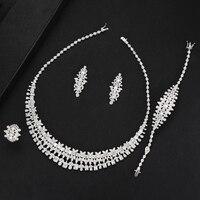 SisCathy Dubai Italian 4 PCS Necklace Earrings Bracelet Ring for Noble Luxury Women Bridal Wedding Party Show Jewelry Sets 2019