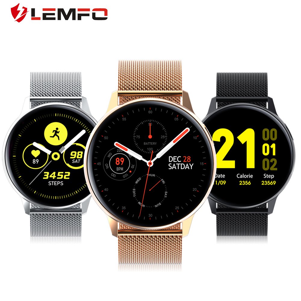S30 ECG PPG Smart Watch Men Women Full Round Touch Screen IP68 Waterproof Heart Rate Blood Pressure Oxygen Smartwatch Lemfo