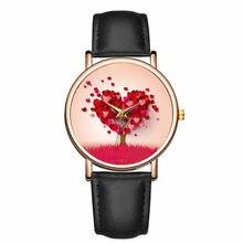 Kadınlar İzle yeni moda bayanlar yaratıcı kalp saatler deri kayış kuvars saat romantik hediye Reloj Mujer Montre Femme Zegarek bayan kol saati bayan saat kadin saat kadın kol saati saat bayan
