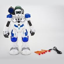 Kids Intelligent RC Robot Toys Programmable Combat Defender Dancing Walking Light Musical Remote Control Robots Toy Child Gifts(China)