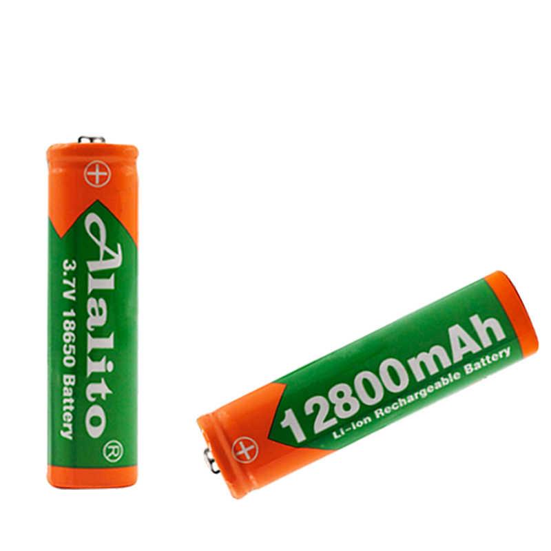 3.7 v 18650 12800 mah 充電式バッテリー高容量リチウムイオン二次電池懐中電灯トーチヘッドランプバッテリー
