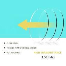 SASAMIA 1.56 مؤشر شبه الكروي عدسة للعين نظارات العدسات قصر النظر قصر النظر الشيخوخي عدسة بصرية مضادة للتوهج