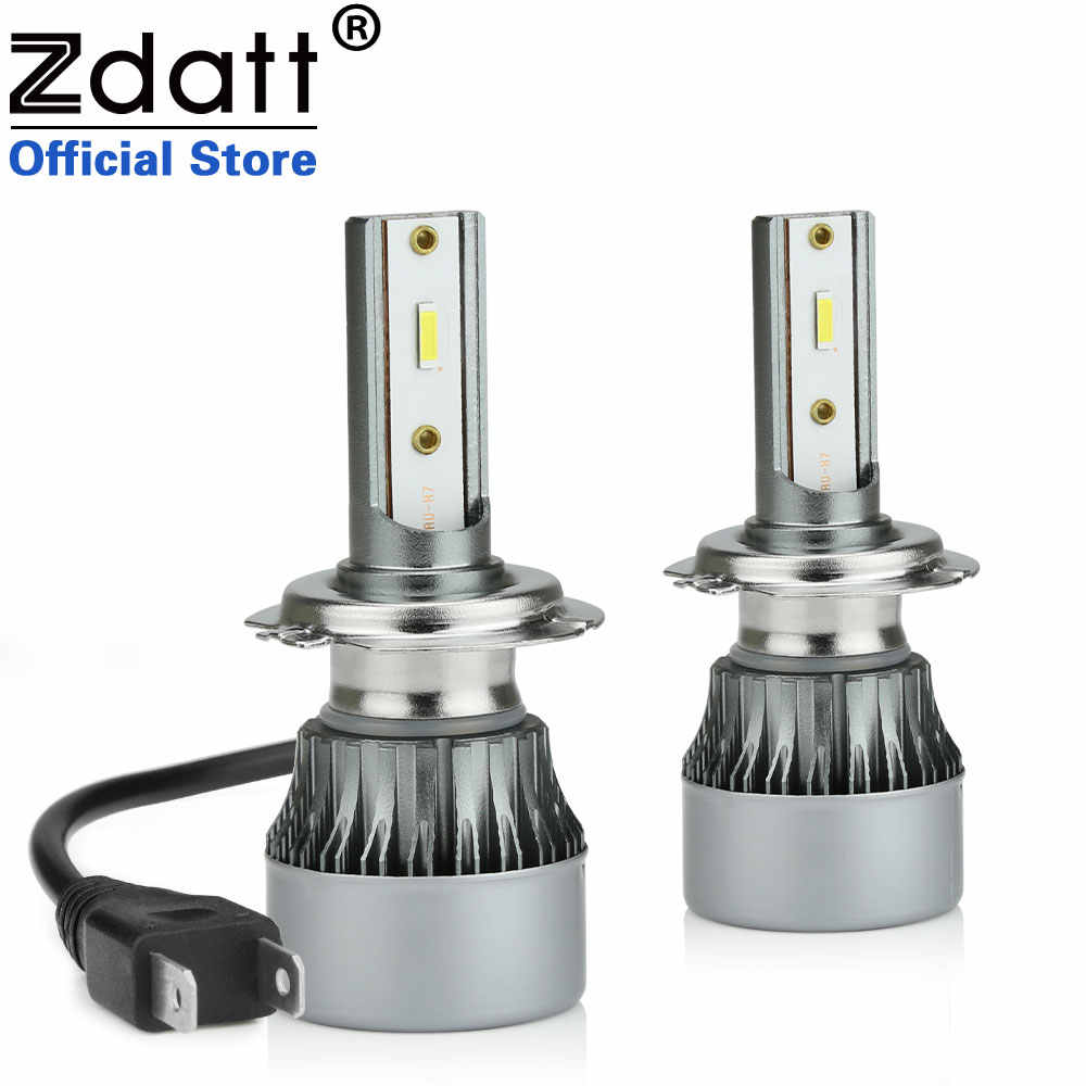 Zdatt Car Accessories H1LED Headlight H7 H11 9005 9006 Conversion Kit Bulbs 100W 6000LM High Power 6000K  LED Lamps For Cars