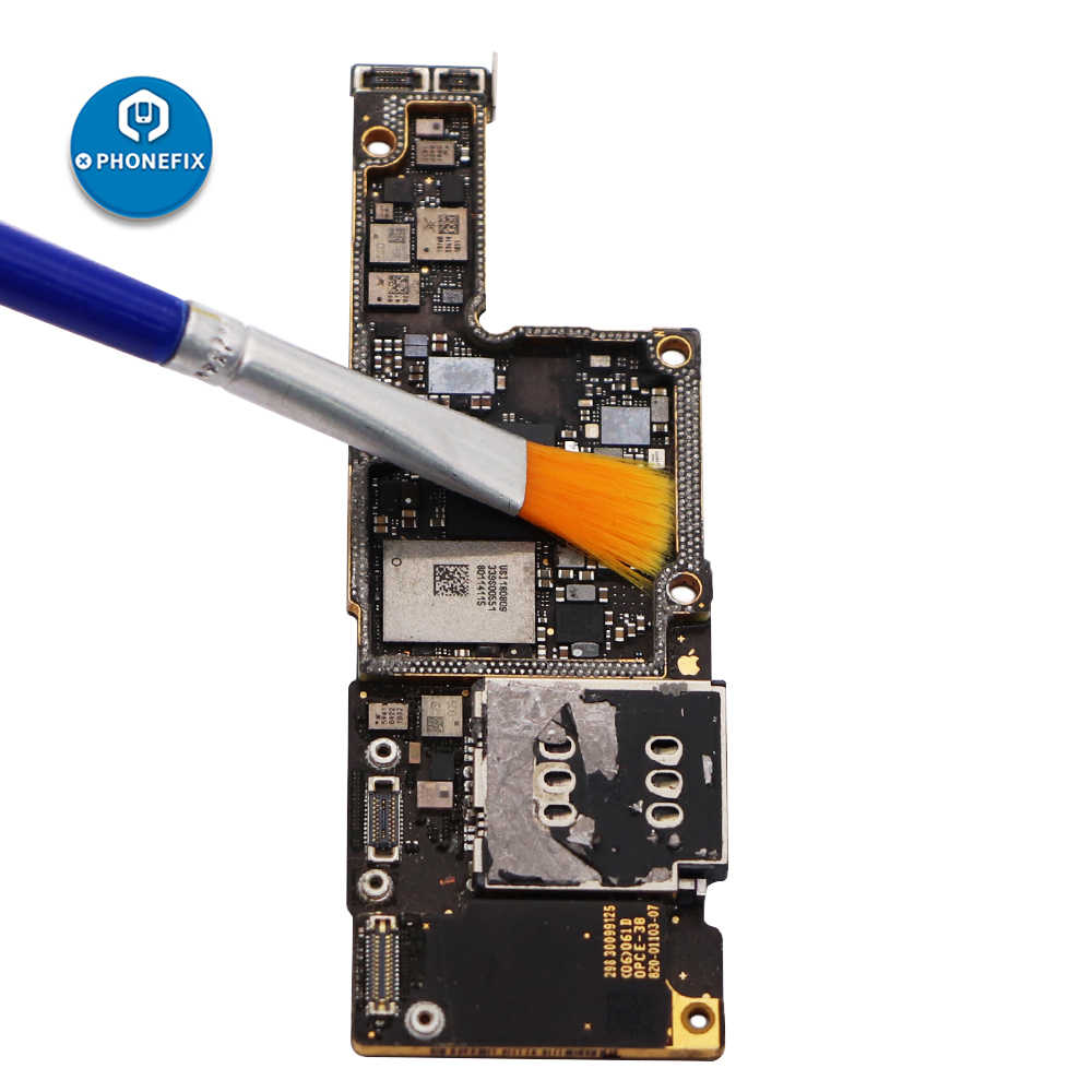 Phonefix conjunto de escova azul bga escova de limpeza placa de circuito placa de circuito placa de circuito antiestática escova de solda fluxo pasta assistente ferramenta