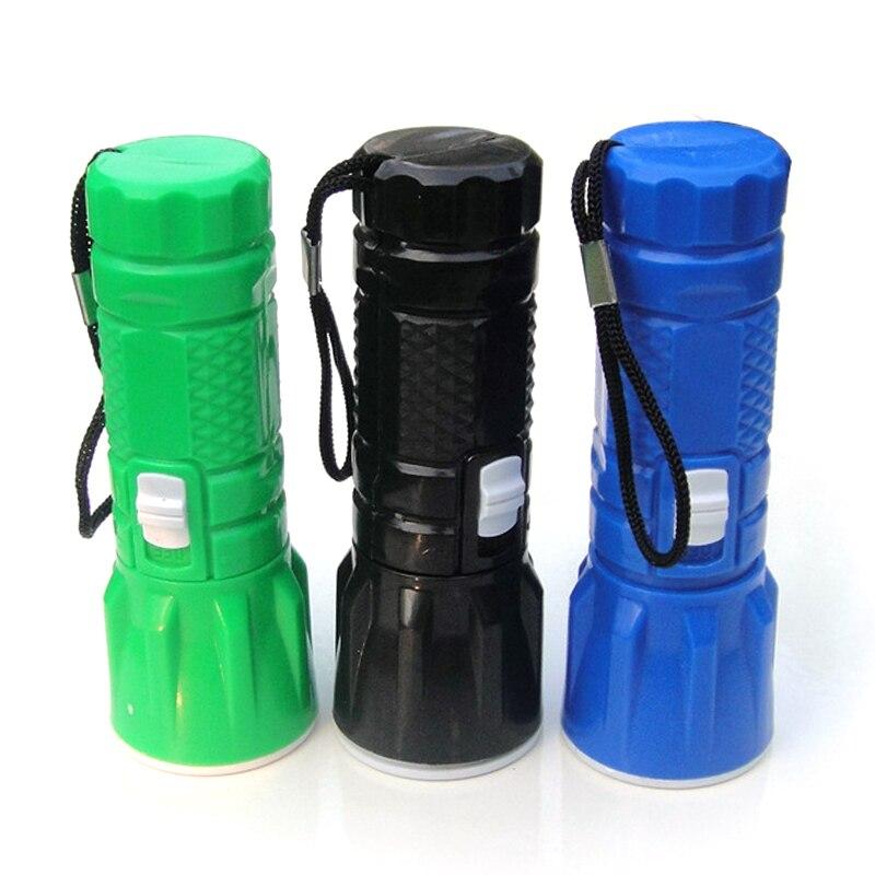 Plastic Mini Retractable Zoom Light Small Flashlight LED Rotating Dimming Outdoor Riding Flashlight