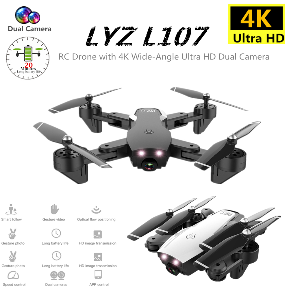 Mini Drone 4K Quadcopter with Camera Foldable Dron Optical Flow Quadrocopter RC Helicopter Toys For Kids Gift VS SG906 E58 XS816 image