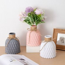Flower Vase Home Decor European Imitation Ceramic Rattan Wedding Flower Arrangement Nordic Wedding Decorations