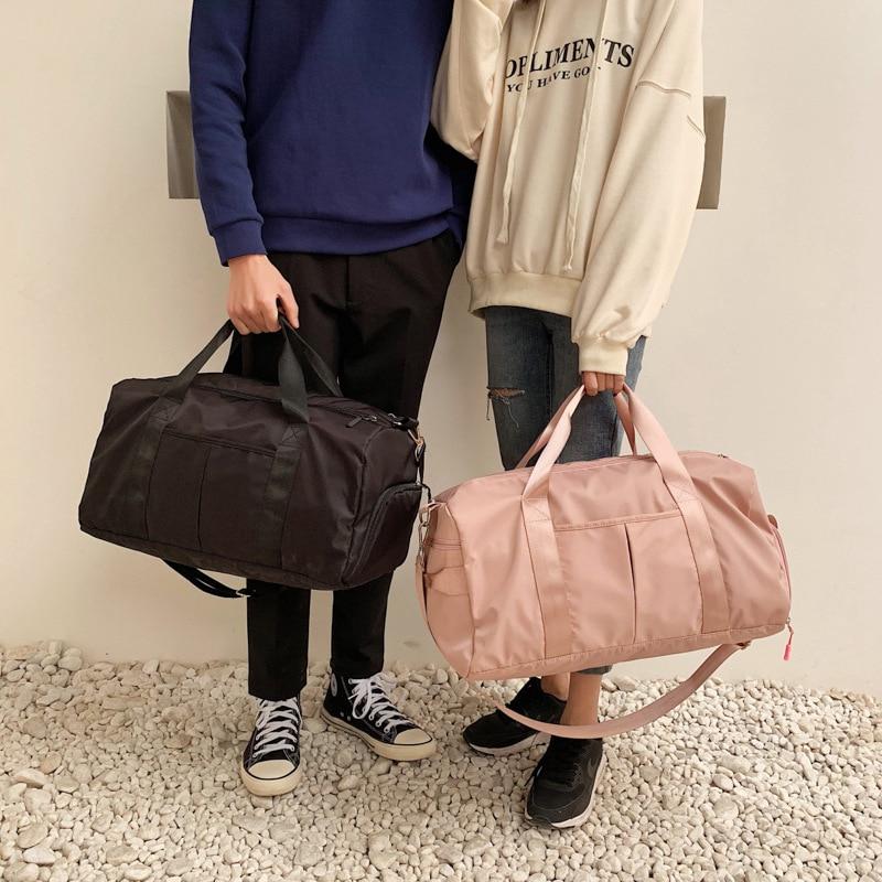 men and women training fitness bag