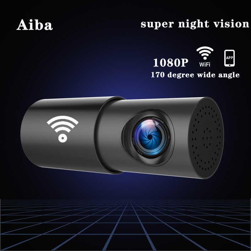 Оригинал Aiba A10 Автомобильный видеорегистратор APP 1080P HD Приборная панель ночного видения Wifi Автомобильная камера рекордер 170 градусов широкоугольный G-Sensor видеорегистратор