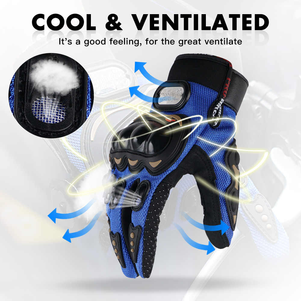 Moto Guanto di Estate Degli Uomini Respirabili Motocross guanti Pieno Finger Off Road di Guida Della Bicicletta Moto Moto Guanti Motocross Guanti