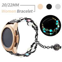 Cinturino da donna 22mm 20mm per Samsung Galaxy Watch Active 2 1/46mm/42mm cinturino luminoso per Garmin Venu/SQ/Vivoactive 4 3/HR