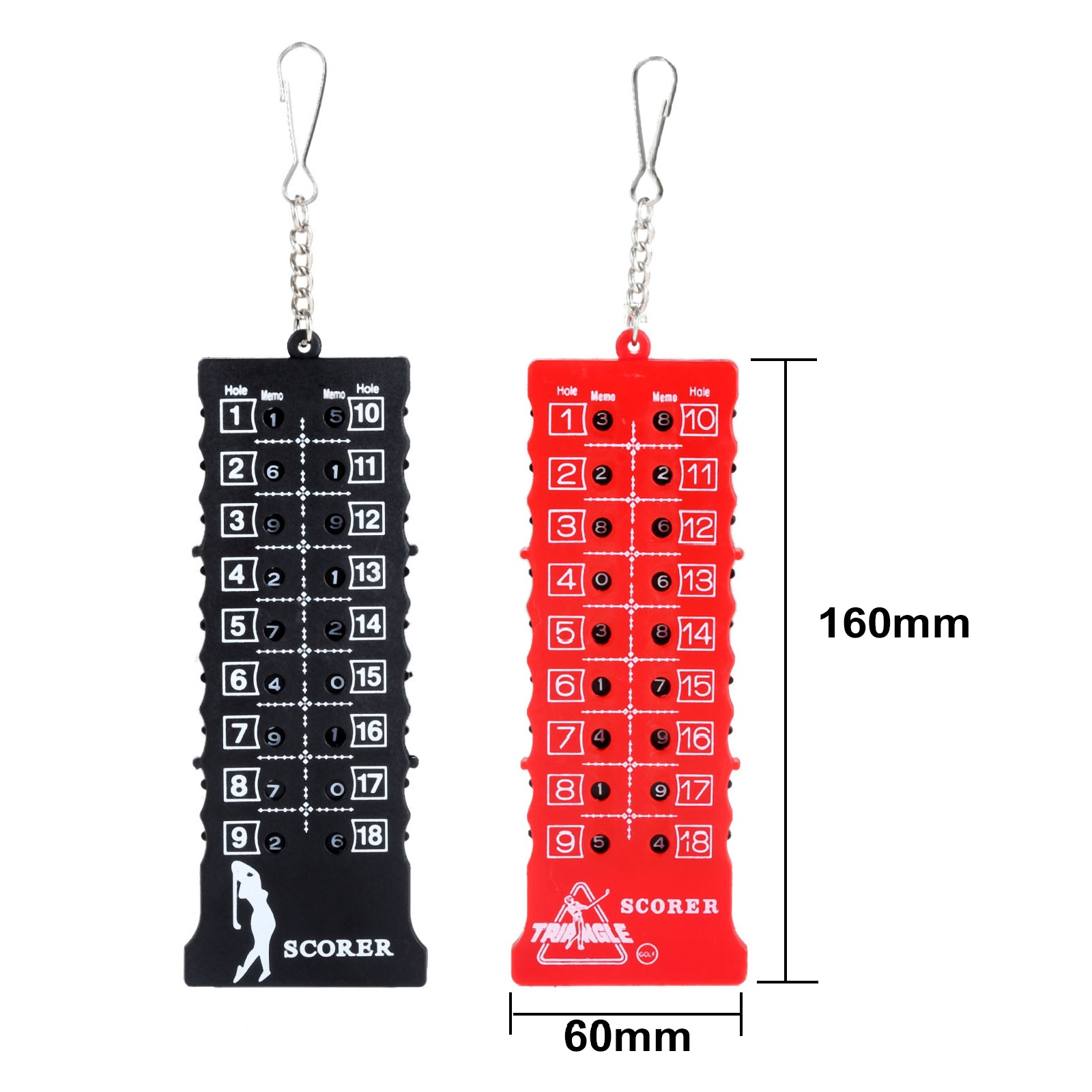 1Pc Plastic 18 Hole Golf Putt Stroke Scorer Counter Portable Golf Score Card Scoreboard Scorer Mark Indicator Tool With Keychain