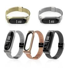 Stainless Steel Mesh Bracelet Watch Band Magnetic Wrist Strap Smart Band Replacement For Xiaomi Mi band 3 Watch цена и фото