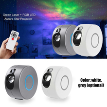Laser Galaxy Starry Sky Projector Rotating Water Waving Night Light Led Colorful Cloud Lamp Atmospher Bedroom Beside Lamp