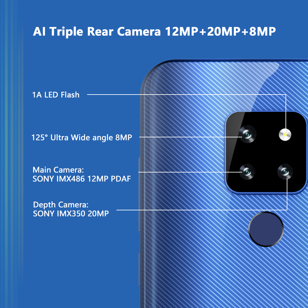 Cubot P30 4GB 64GB Android 9.0 4G Smartphone 6.3'' FHD+ Waterdrop Screen 2340*1080 4000mAh Face ID 13MP Unlock Mobile Phone