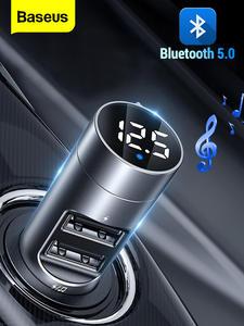 Baseus Mp3-Player Car-Kit Modulator Usb-Car-Charger Fm-Transmitter Audio Fm-Radio Handsfree