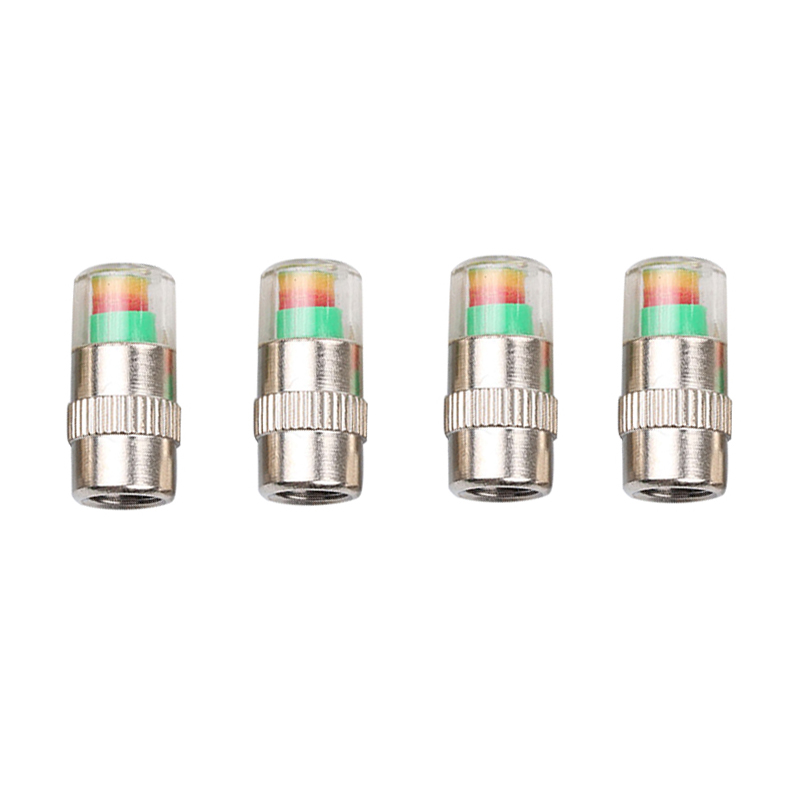 4Pcs Tire Pressure Monitor Tyre Valve Stem Caps Sensor Indicator Eye - Auto Replacement Parts - Photo 1