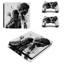 آخر من لنا PS4 سليم الجلد الغطاء الواقي ملصق الفينيل ل PS4 وحدة التحكم و تحكم الجلد ملصقا ل بلاي ستيشن 4 مائي