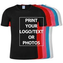 T-shirt décontracté et personnalisé avec impression de photos, 100% Polyester, design vos propres T-shirts de marque, grande taille