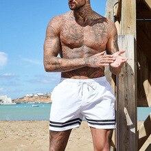 Summer Beach shorts man footbal shorts male run shorts stripe shorts Quick Dry Running Breathable gym short bodybuilding shorts недорого
