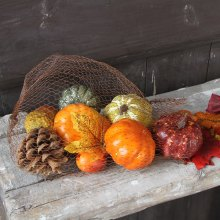 Home Decor Artificial Pumpkin Gourd Pine Cone Acorn Maple Leaf For Halloween Autumn Harvest Thanksgiving Halloween Photo Props(China)