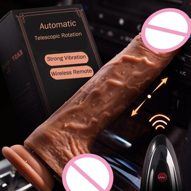 Dildo Penis groß aus Silikon Vibrator 7 Programme 1