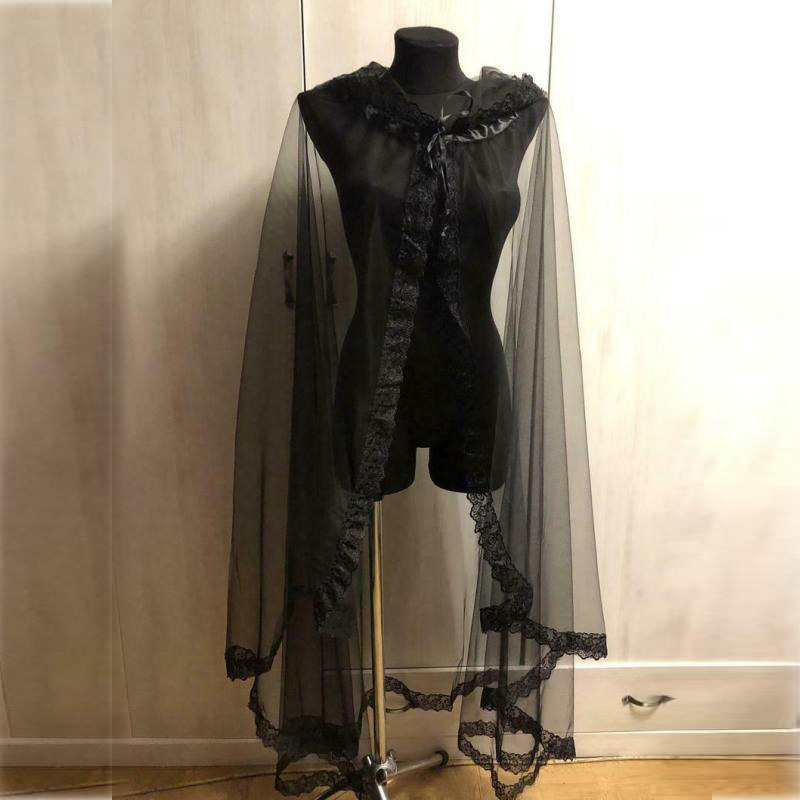 Black Lace Bolero Shrugs For Women Bridal Bolero Cape For Dress Evening Party Dress Cape Tulle Shawl And Wraps