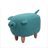 Solid wood foot stool creative hippo shoes bench sofa stool designer furniture storage stool test shoes storage foot stool
