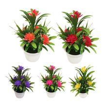 лучшая цена Creative Mini Artificial Flower Potted Plant Lotus Bonsai Wedding Party Garden Home Resturant Table Decor Artificial Plants
