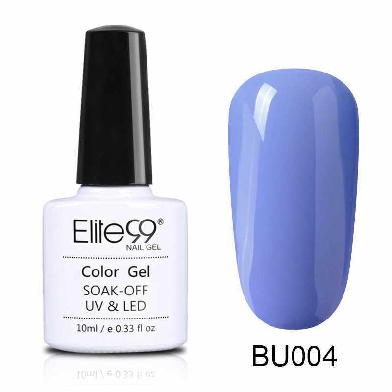 Elite99 10ml mavi renk serisi tırnak jeli lehçe kapalı islatın UV jel lehçe hibrid vernik yarı kalıcı tırnak sanat cila manikür