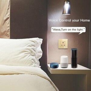 Image 3 - WiFi inteligentna ściana gniazdko szklane Panel inteligentne życie/Tuya APP pilot, współpracuje z Amazon Echo Alexa Google Home EU FR UK