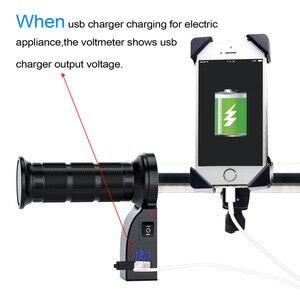 Image 5 - WUPP mango de calefacción eléctrica para motocicleta, accesorio con interruptor, pantalla digital, cubierta de mango, temperatura ajustable, para invierno, 12V