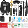 125 шт. набор для выживания в экстренных ситуациях, профессиональное снаряжение для выживания, набор первой помощи, тактический нож SOS с сумко...