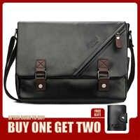 VICUNA POLO promocyjna męska torba Vintage duża pozioma czarna torba na ramię z podwójny pas moda męska torebka Hot