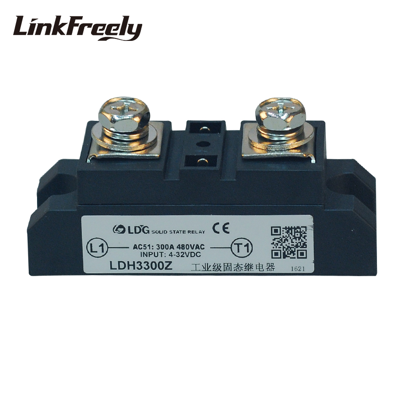 LDH Electrical High Power 1 Phase Solid State Relay Controller Board LED SSR DC to AC 200A 300A 400A Input 4-32VDC Output 480VAC