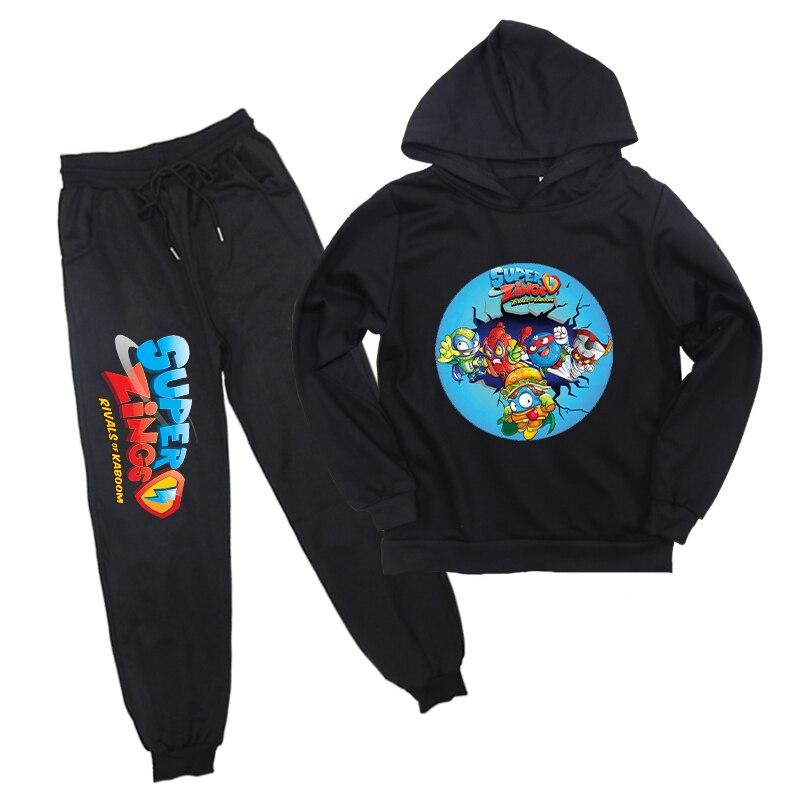 Toddler Boy Girl Suit Autumn Winter Hoodie Superzings Hoodie Pants Baby Children Super Zings Sportwear Sets Children Clothes
