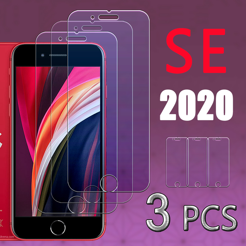 Película de proteção para iphone, armadura protetora de vidro para iphone se2020, 2020 se2, 1 para 3 peças